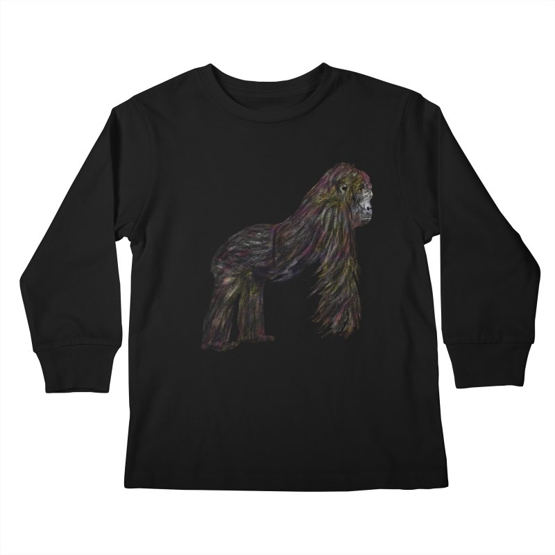gorilla Kids Longsleeve T-Shirt by gupikus's Artist Shop