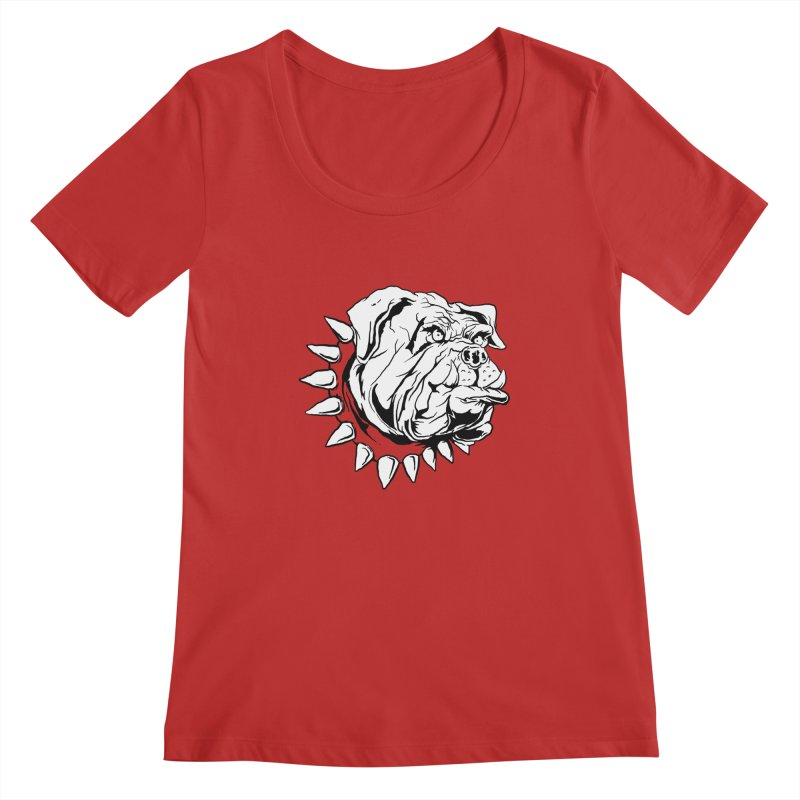 doggies Women's Scoopneck by gupikus's Artist Shop