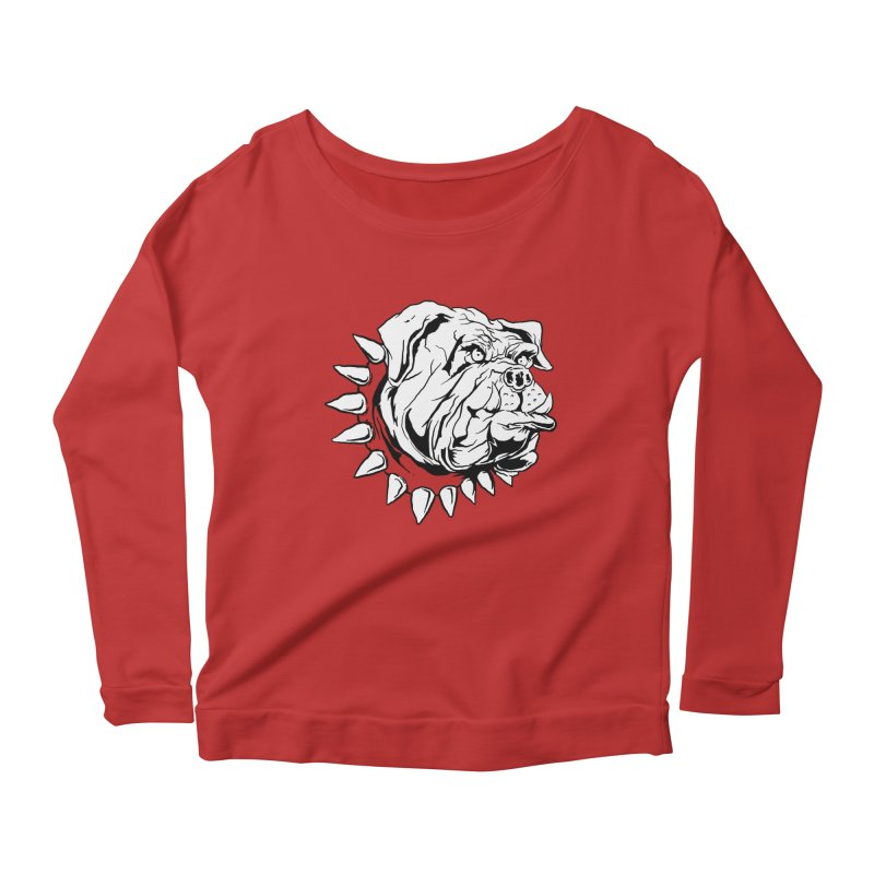 doggies Women's Longsleeve Scoopneck  by gupikus's Artist Shop