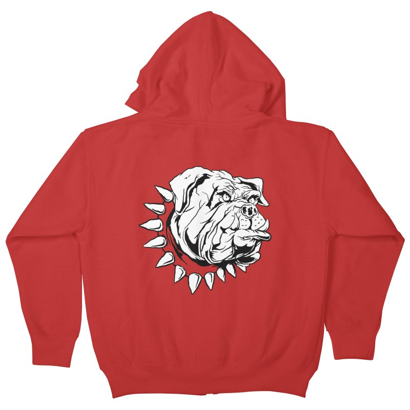 doggies Kids Zip-Up Hoody by gupikus's Artist Shop