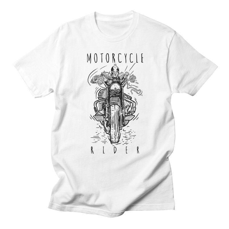 motorcycle Men's T-shirt by gupikus's Artist Shop
