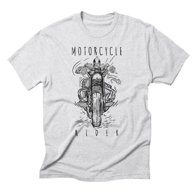 motorcycle Men's Triblend T-Shirt by gupikus's Artist Shop