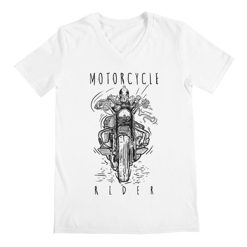 motorcycle Men's V-Neck by gupikus's Artist Shop