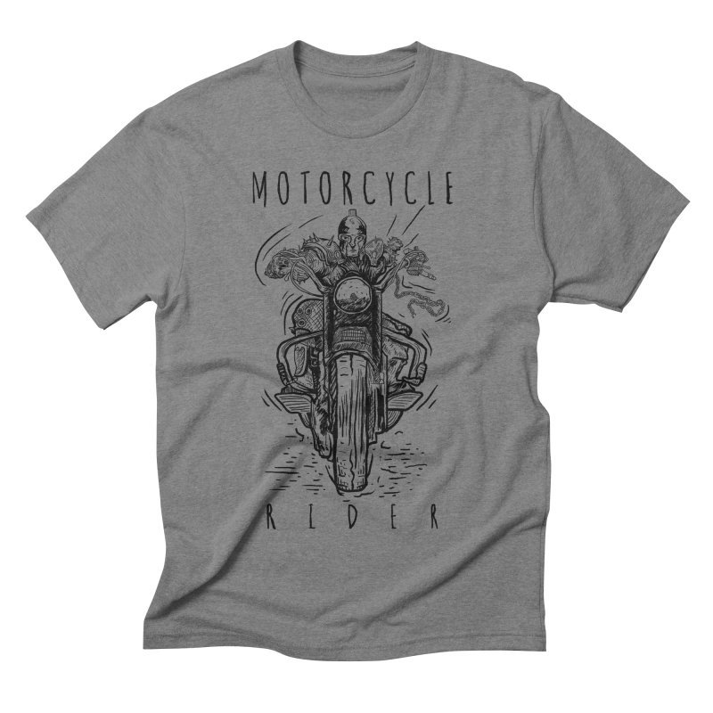 motorcycle Men's Triblend T-shirt by gupikus's Artist Shop
