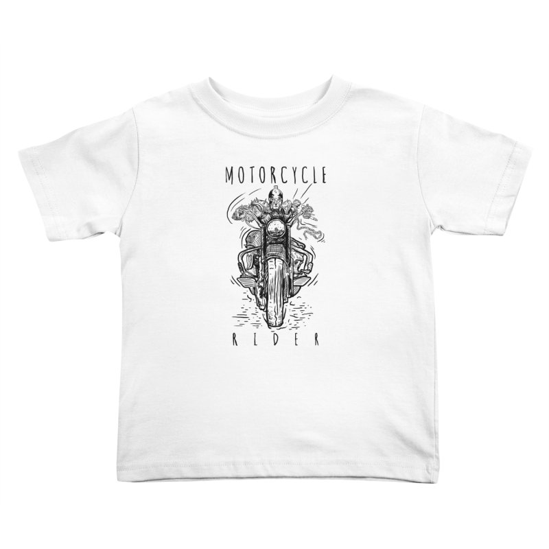 motorcycle Kids Toddler T-Shirt by gupikus's Artist Shop