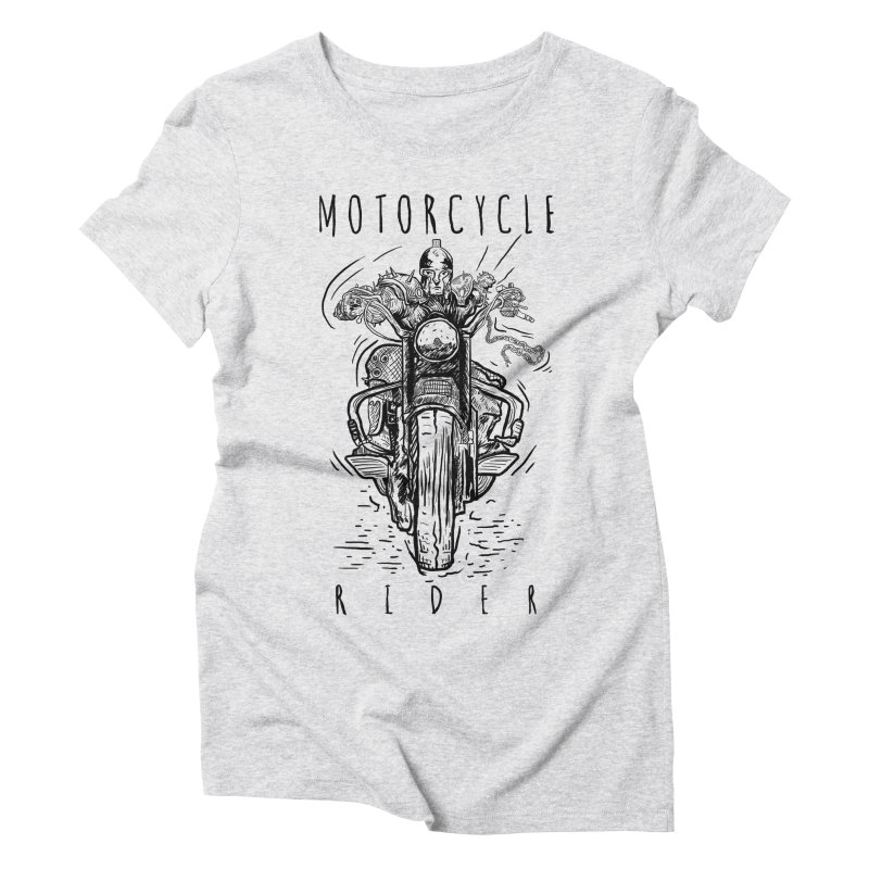 motorcycle Women's Triblend T-shirt by gupikus's Artist Shop