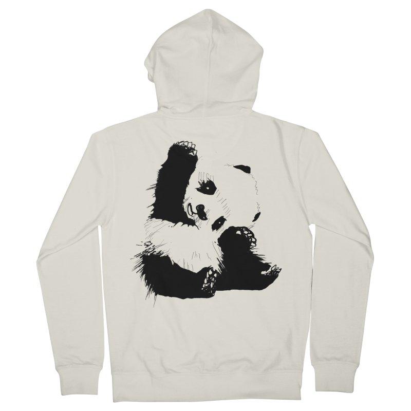 hallo panda Men's Zip-Up Hoody by gupikus's Artist Shop
