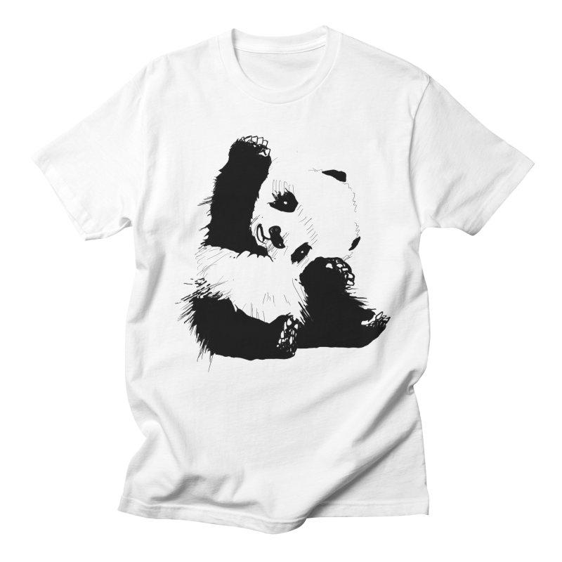 hallo panda Men's T-Shirt by gupikus's Artist Shop