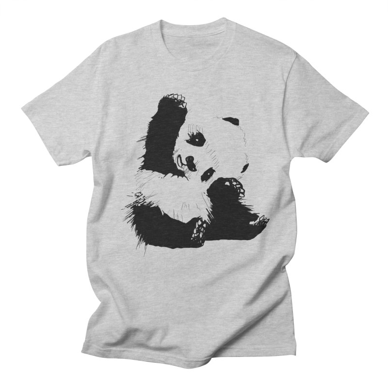 hallo panda Men's T-Shirt by gupikus's Artist Shop
