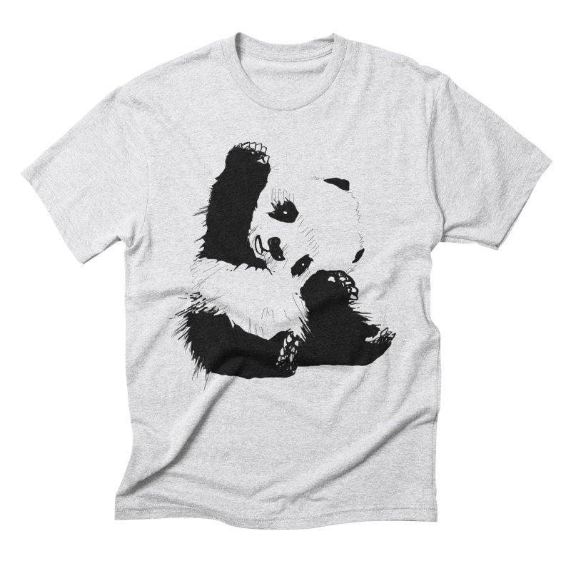 hallo panda Men's Triblend T-Shirt by gupikus's Artist Shop