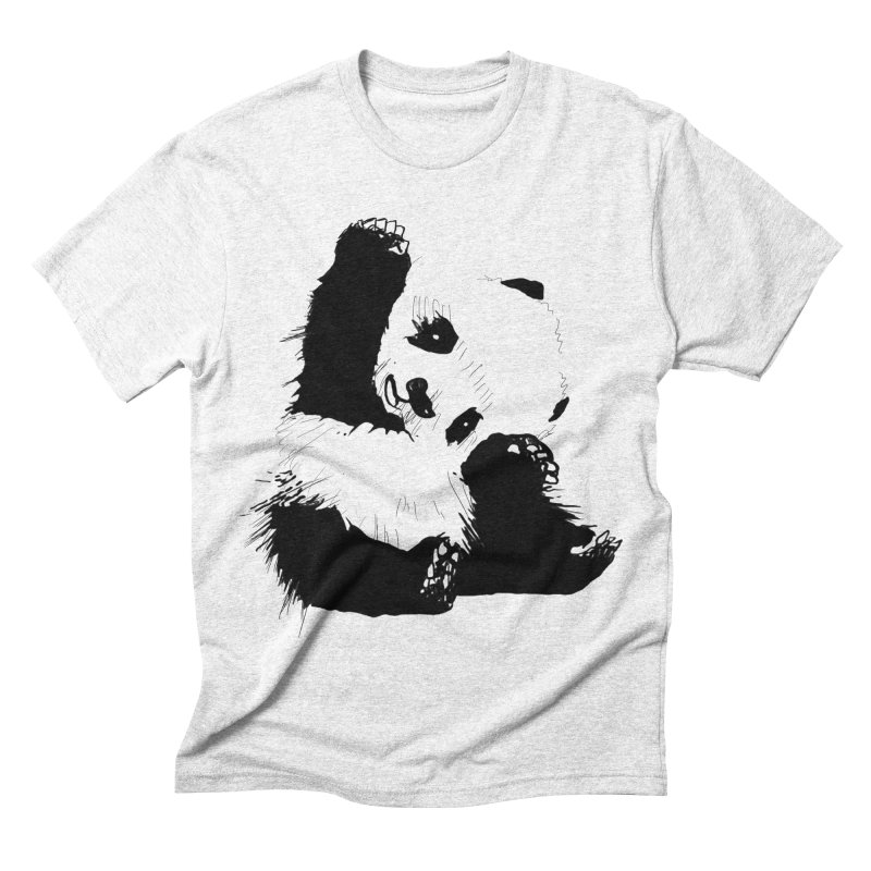 hallo panda Men's Triblend T-shirt by gupikus's Artist Shop