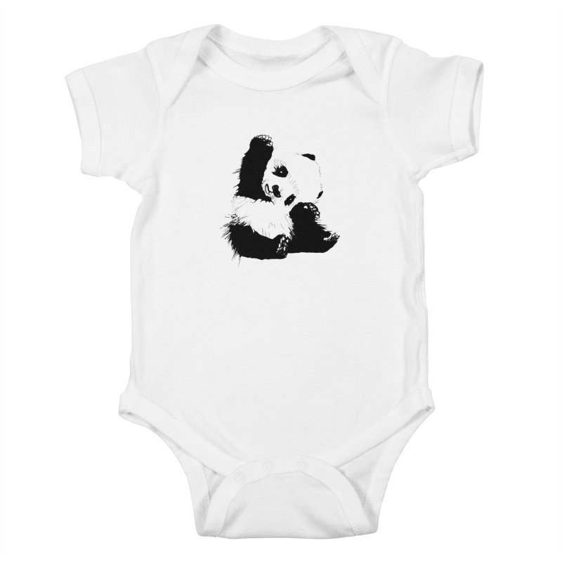 hallo panda Kids Baby Bodysuit by gupikus's Artist Shop