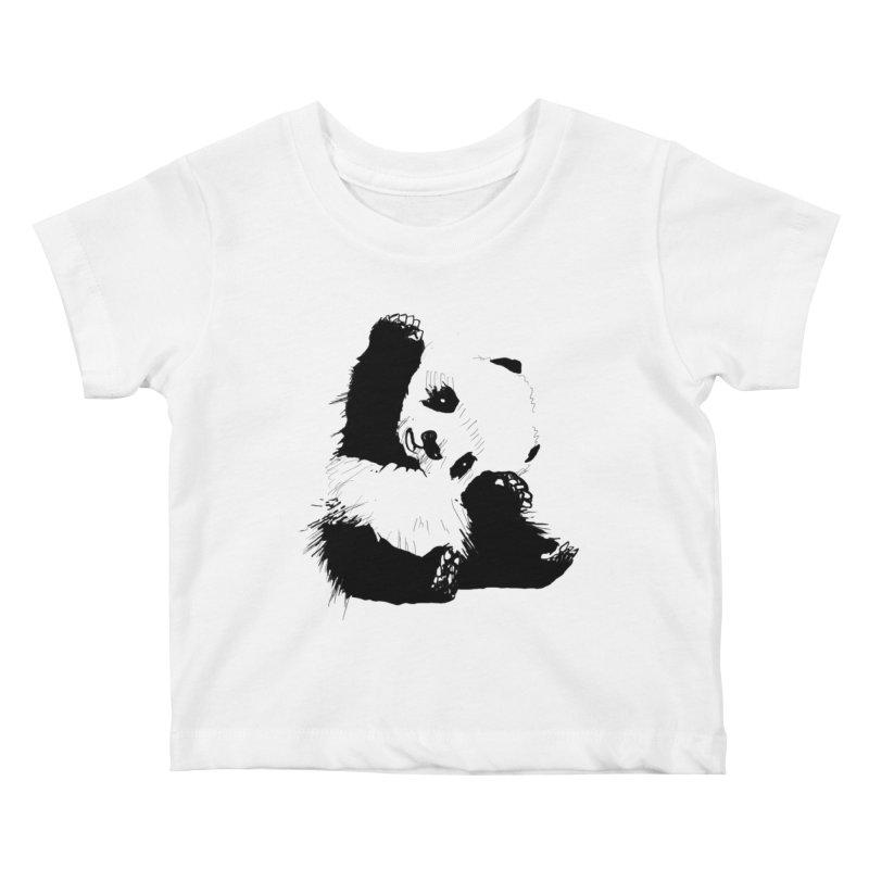 hallo panda Kids Baby T-Shirt by gupikus's Artist Shop