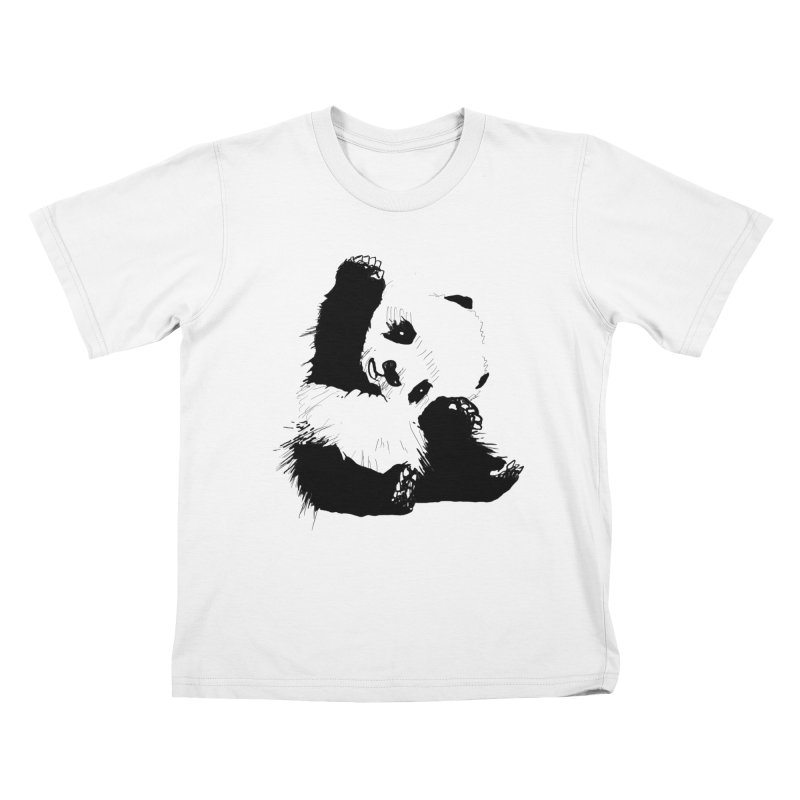 hallo panda Kids T-Shirt by gupikus's Artist Shop