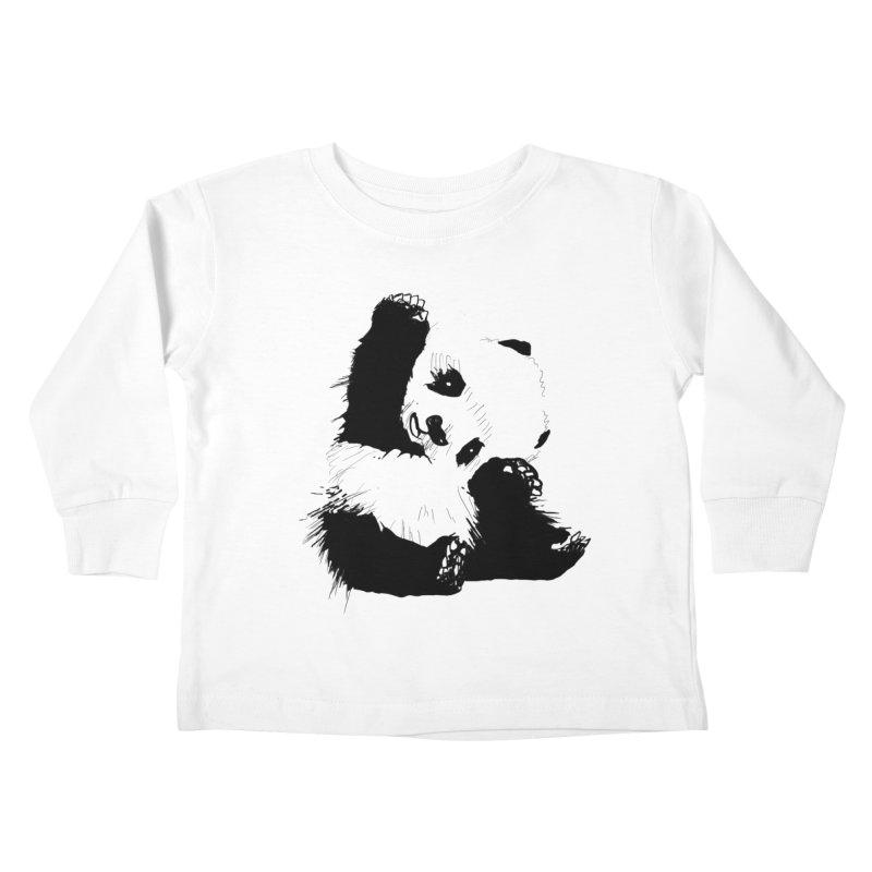 hallo panda Kids Toddler Longsleeve T-Shirt by gupikus's Artist Shop
