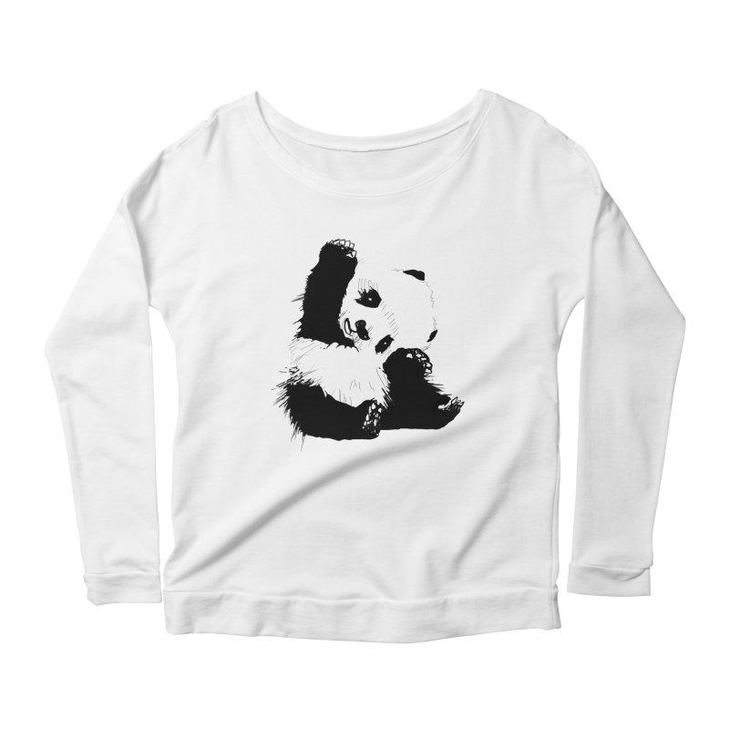 hallo panda Women's Longsleeve Scoopneck  by gupikus's Artist Shop