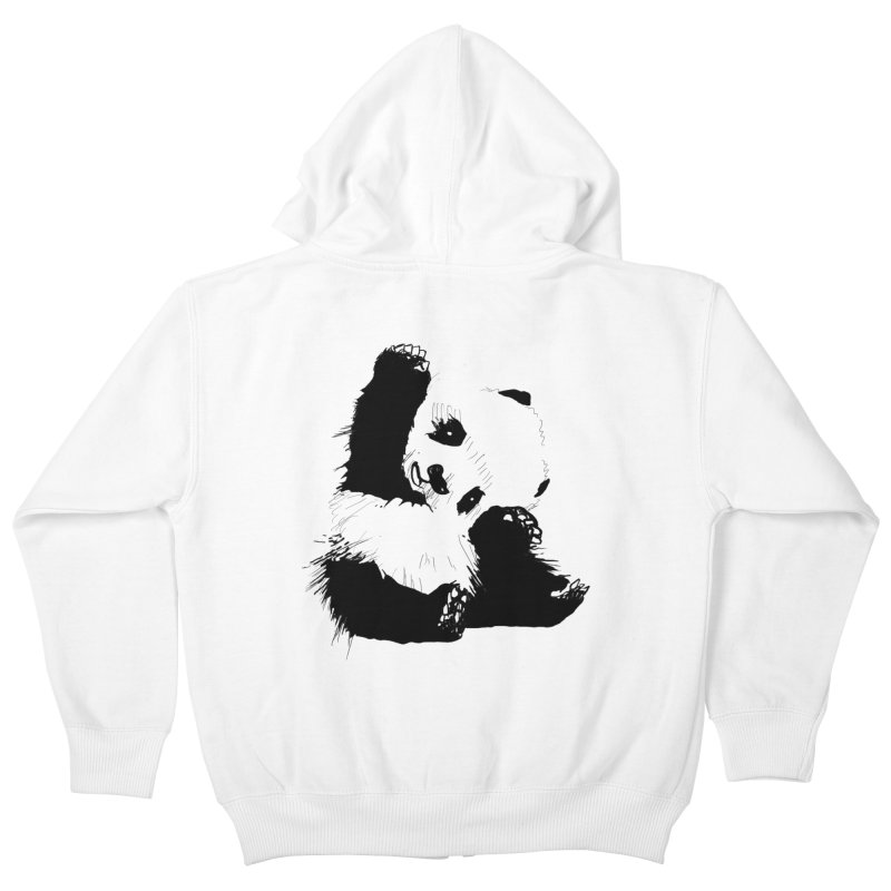 hallo panda Kids Zip-Up Hoody by gupikus's Artist Shop