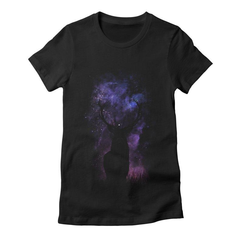 deer Women's Fitted T-Shirt by gupikus's Artist Shop
