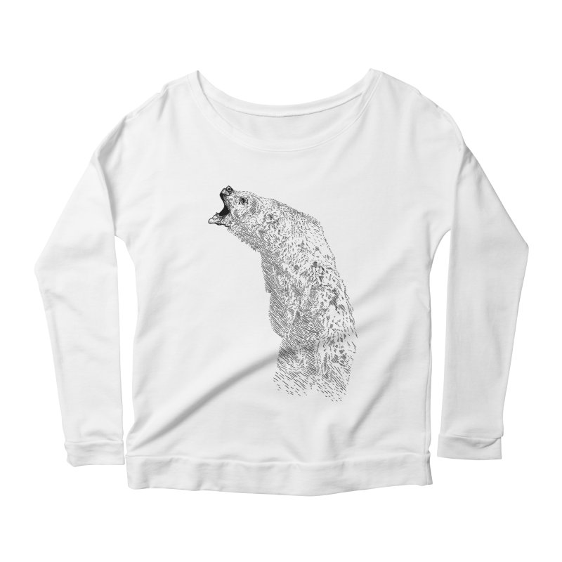 bearoar Women's Longsleeve Scoopneck  by gupikus's Artist Shop