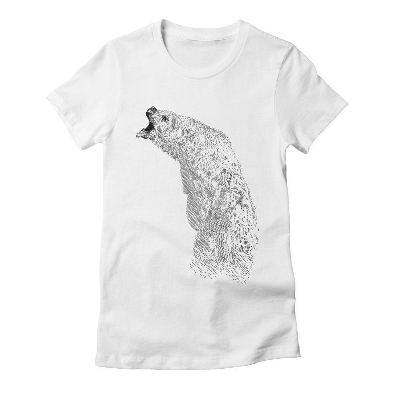 bearoar Women's Fitted T-Shirt by gupikus's Artist Shop