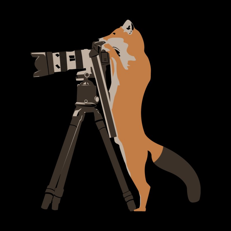 foxtographer Kids T-Shirt by gupikus's Artist Shop