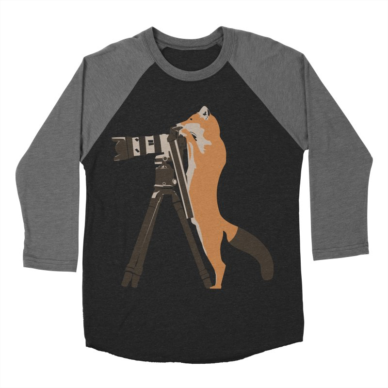 foxtographer Men's Baseball Triblend T-Shirt by gupikus's Artist Shop
