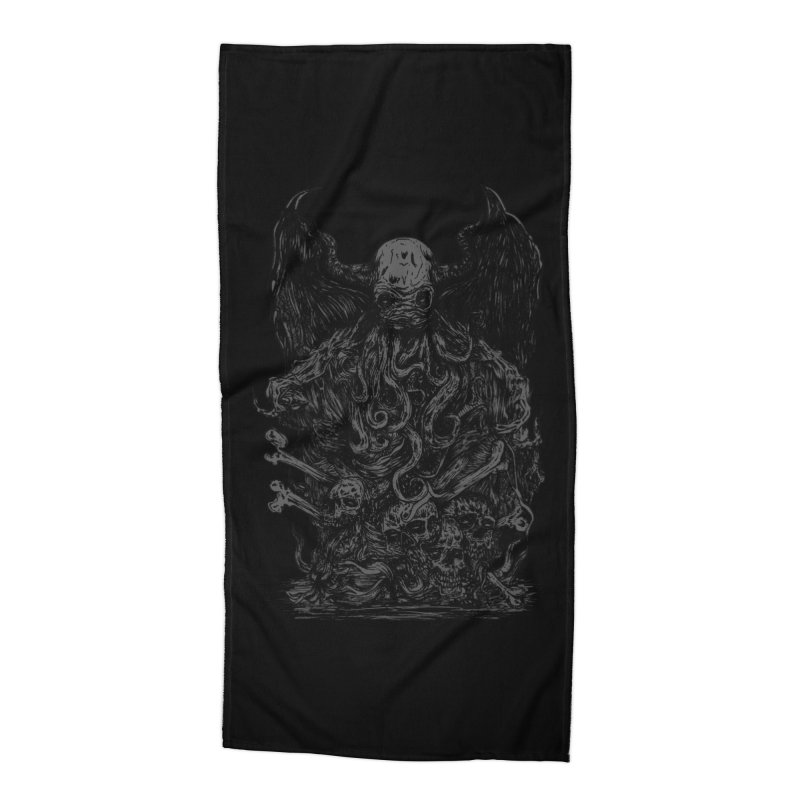 cthulhu Accessories Beach Towel by gupikus's Artist Shop
