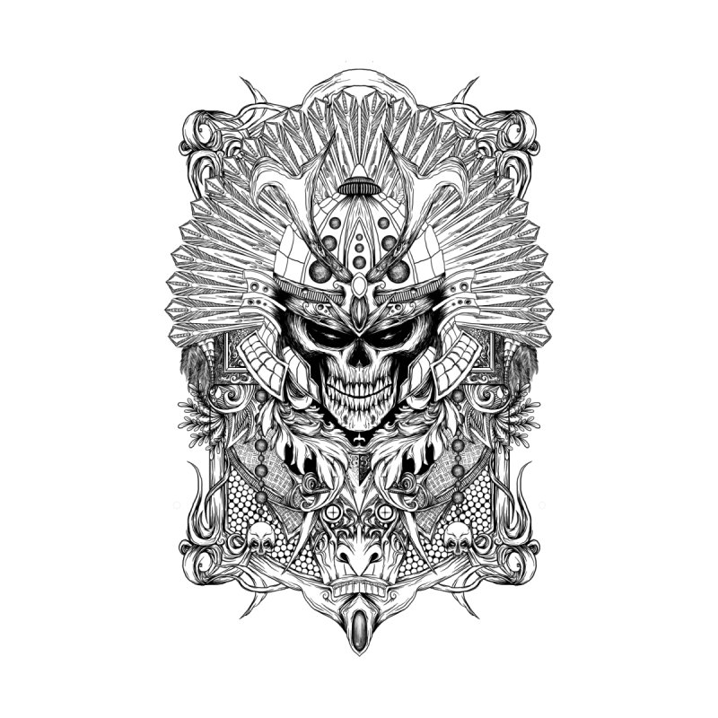 ornamental samurai skull None  by gupikus's Artist Shop