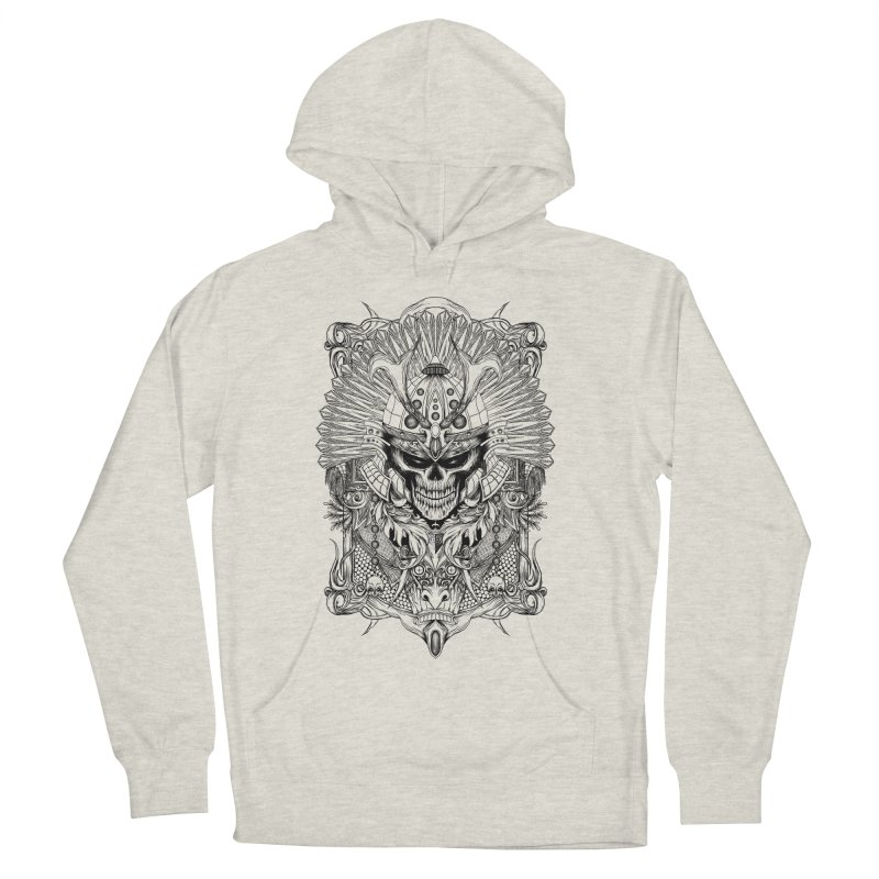 ornamental samurai skull Men's French Terry Pullover Hoody by gupikus's Artist Shop