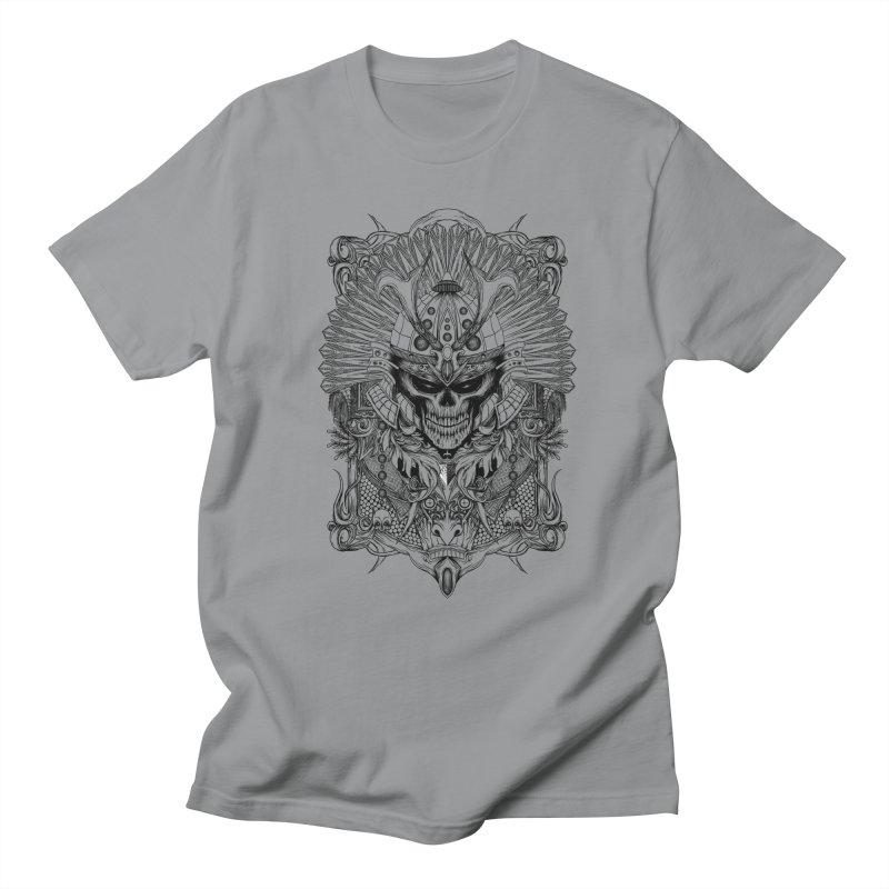 ornamental samurai skull Men's Regular T-Shirt by gupikus's Artist Shop