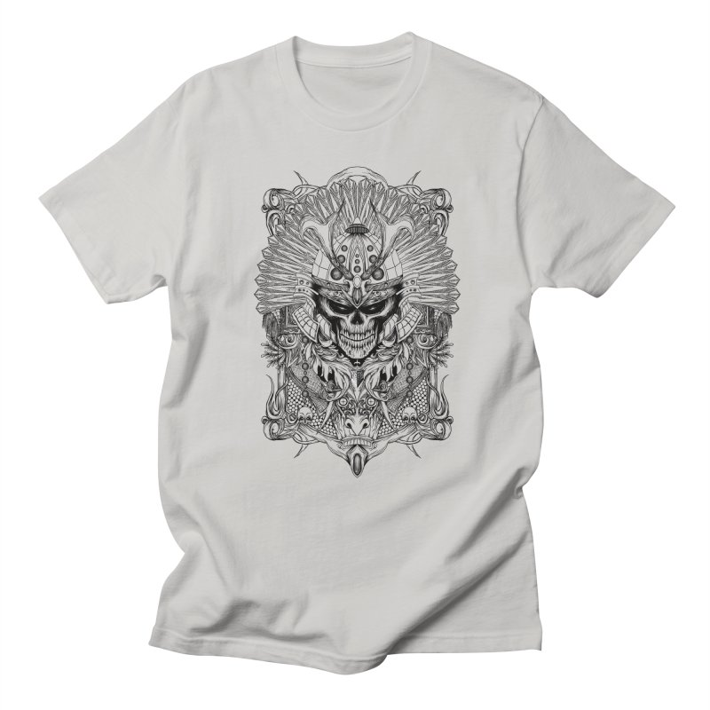 ornamental samurai skull Men's Regular T-Shirt by gupikus's Artist Shop