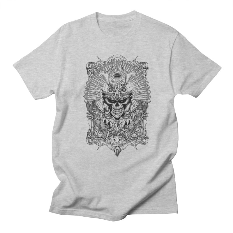 ornamental samurai skull Men's T-Shirt by gupikus's Artist Shop