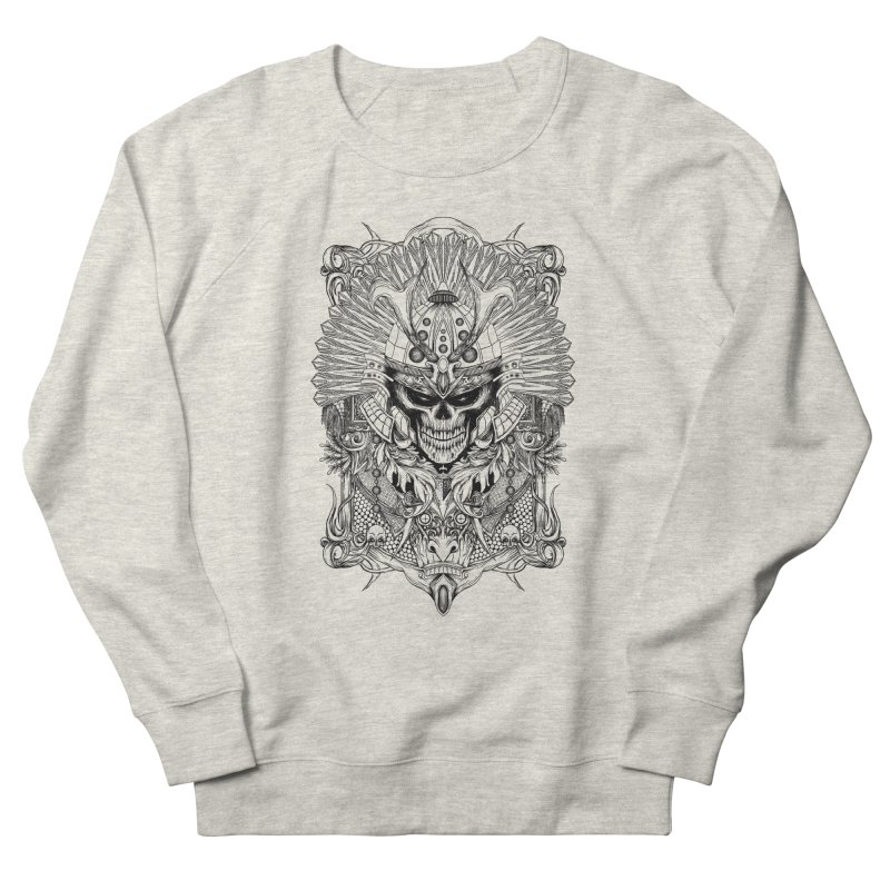 ornamental samurai skull Women's Sweatshirt by gupikus's Artist Shop