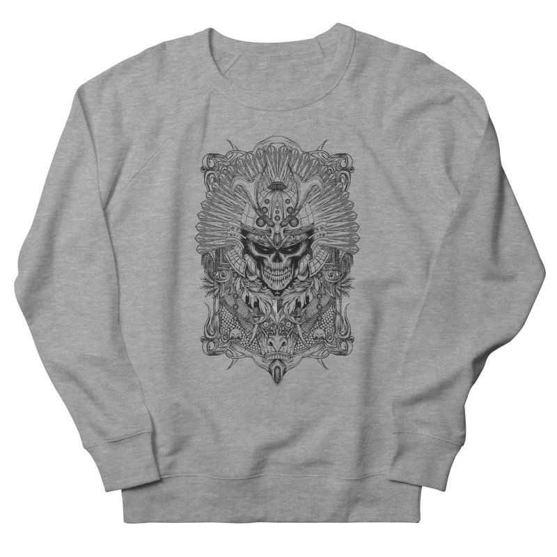ornamental samurai skull Men's French Terry Sweatshirt by gupikus's Artist Shop