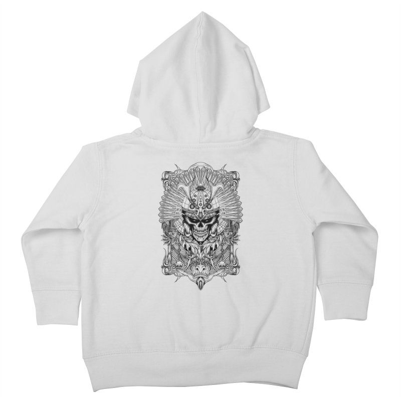 ornamental samurai skull Kids Toddler Zip-Up Hoody by gupikus's Artist Shop