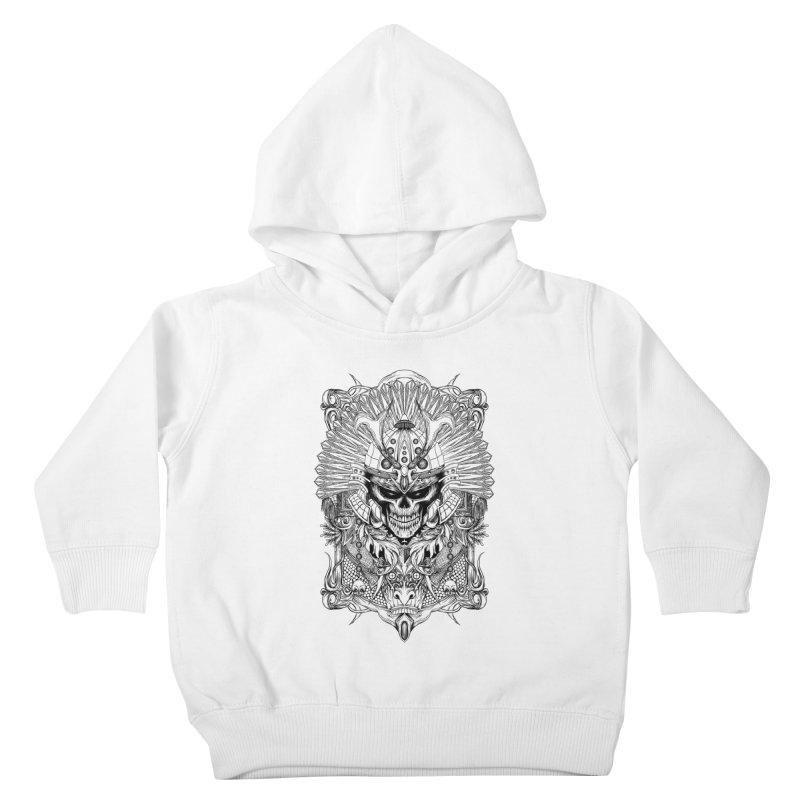 ornamental samurai skull Kids Toddler Pullover Hoody by gupikus's Artist Shop