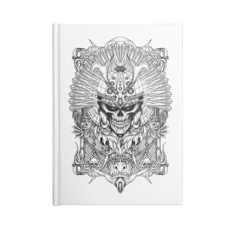 ornamental samurai skull Accessories Notebook by gupikus's Artist Shop