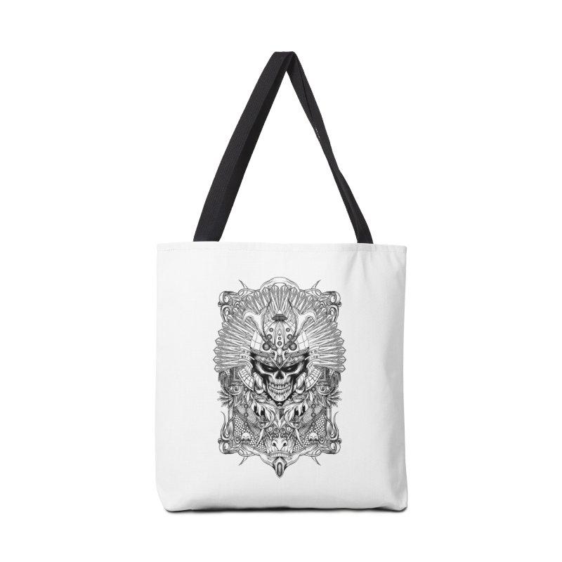 ornamental samurai skull Accessories Bag by gupikus's Artist Shop