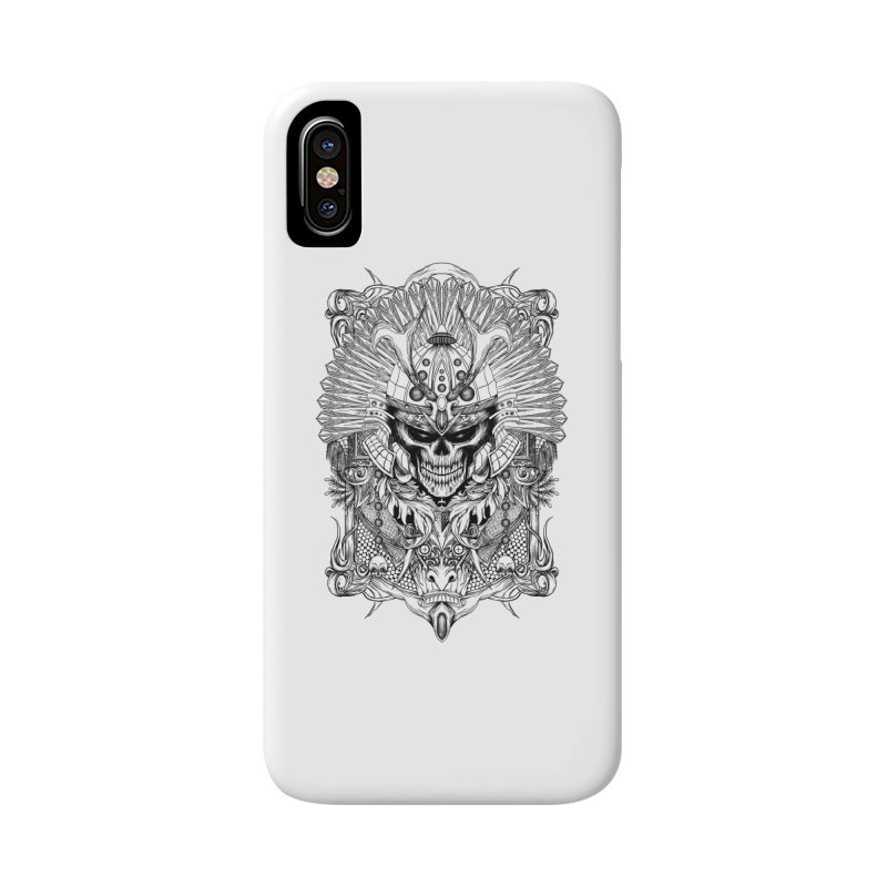 ornamental samurai skull Accessories Phone Case by gupikus's Artist Shop