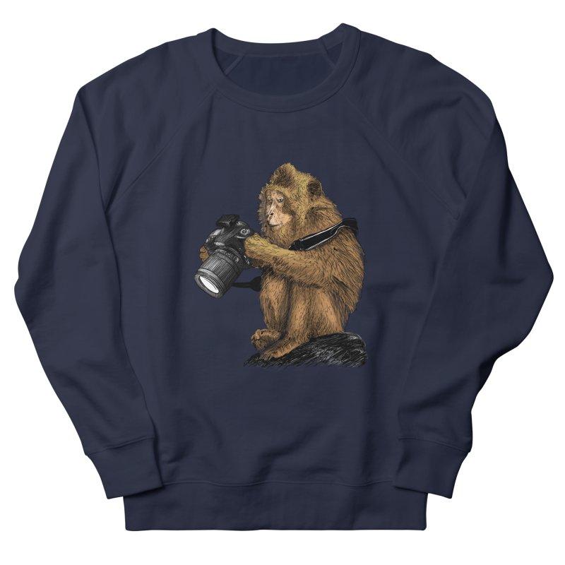 monkey photographer Men's Sweatshirt by gupikus's Artist Shop