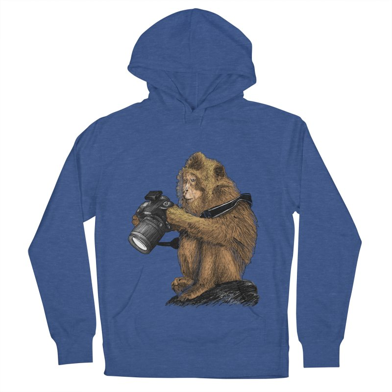 monkey photographer Women's French Terry Pullover Hoody by gupikus's Artist Shop