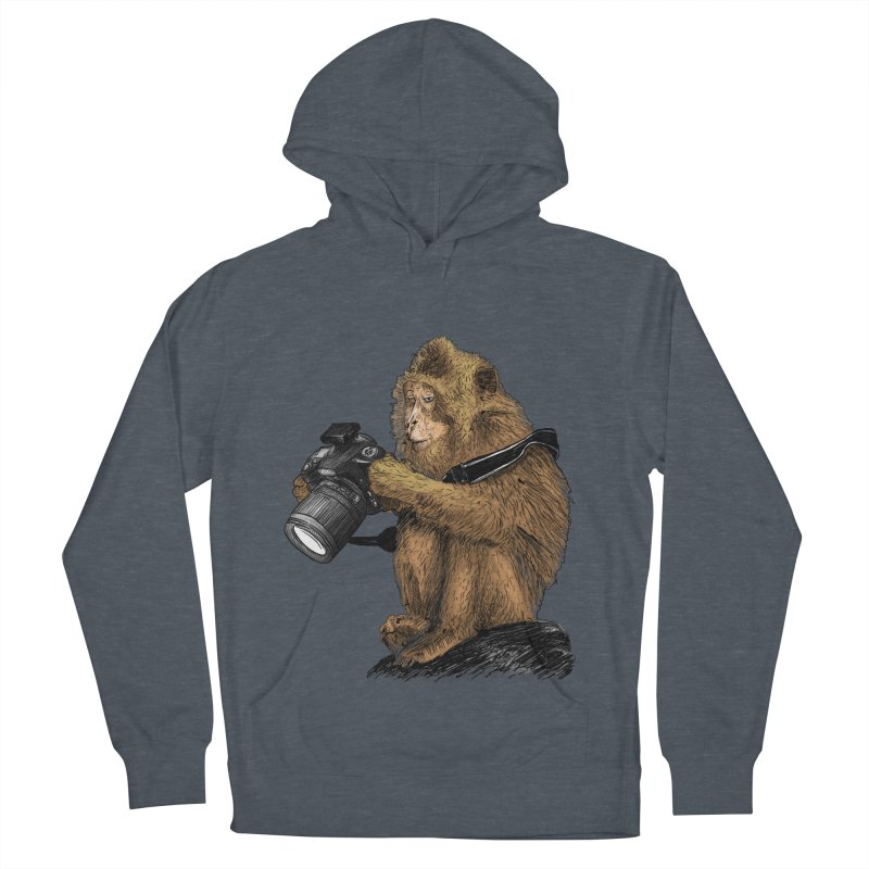 monkey photographer Women's Pullover Hoody by gupikus's Artist Shop