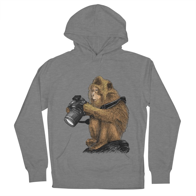 monkey photographer Men's French Terry Pullover Hoody by gupikus's Artist Shop