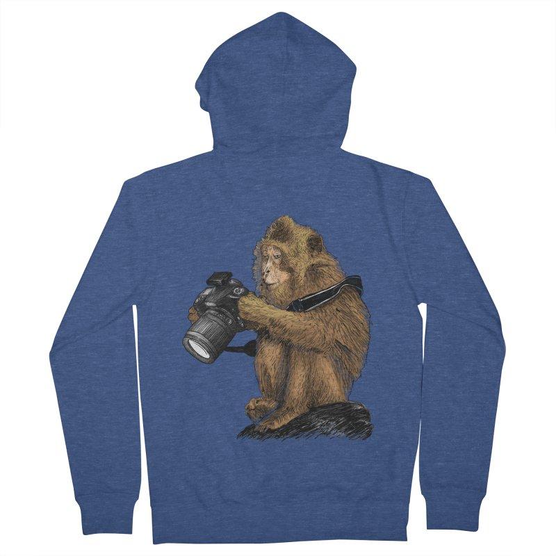 monkey photographer Women's French Terry Zip-Up Hoody by gupikus's Artist Shop