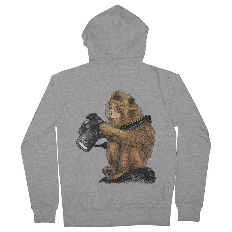 monkey photographer Women's Zip-Up Hoody by gupikus's Artist Shop