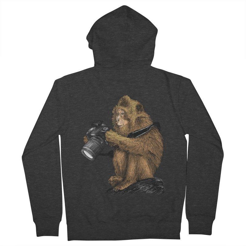monkey photographer Men's Zip-Up Hoody by gupikus's Artist Shop