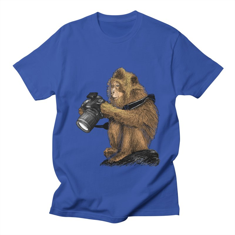 monkey photographer Women's Unisex T-Shirt by gupikus's Artist Shop