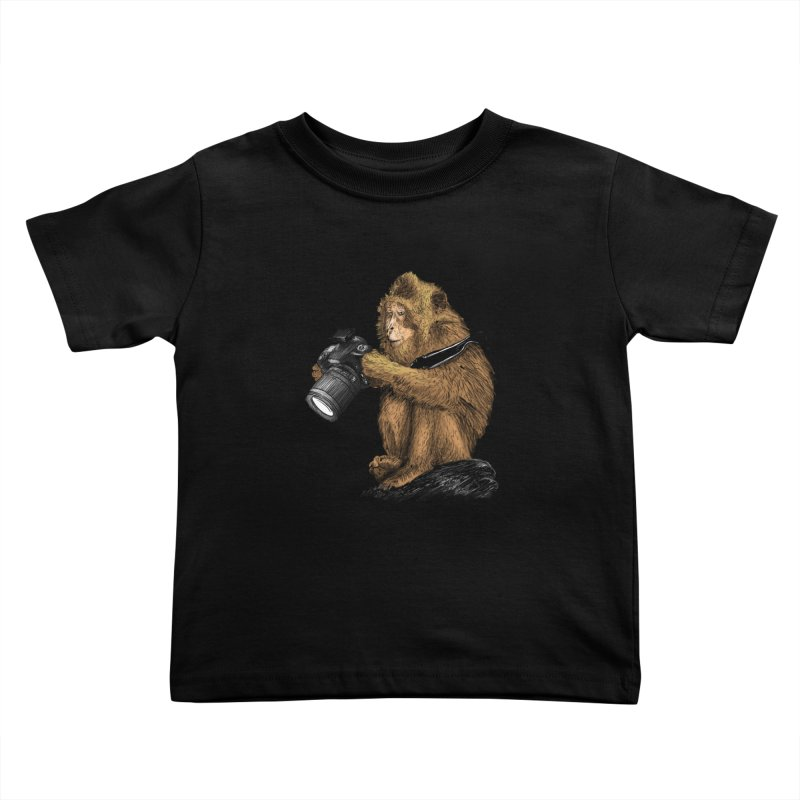 monkey photographer Kids Toddler T-Shirt by gupikus's Artist Shop