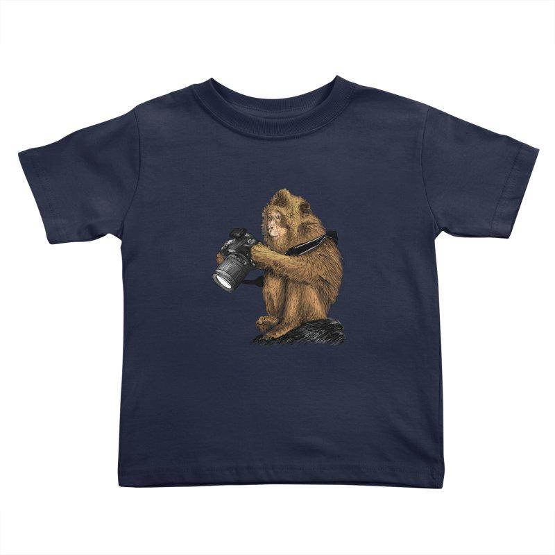 monkey photographer Kids Toddler T-Shirt by gupikus's Artist Shop