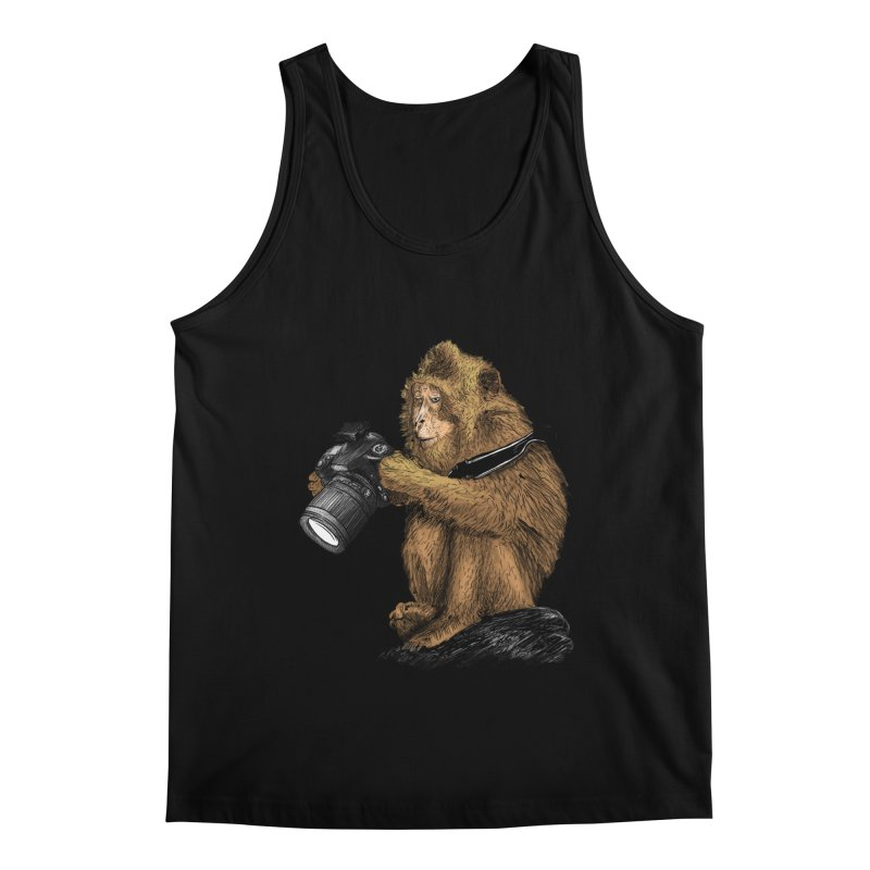 monkey photographer Men's Regular Tank by gupikus's Artist Shop